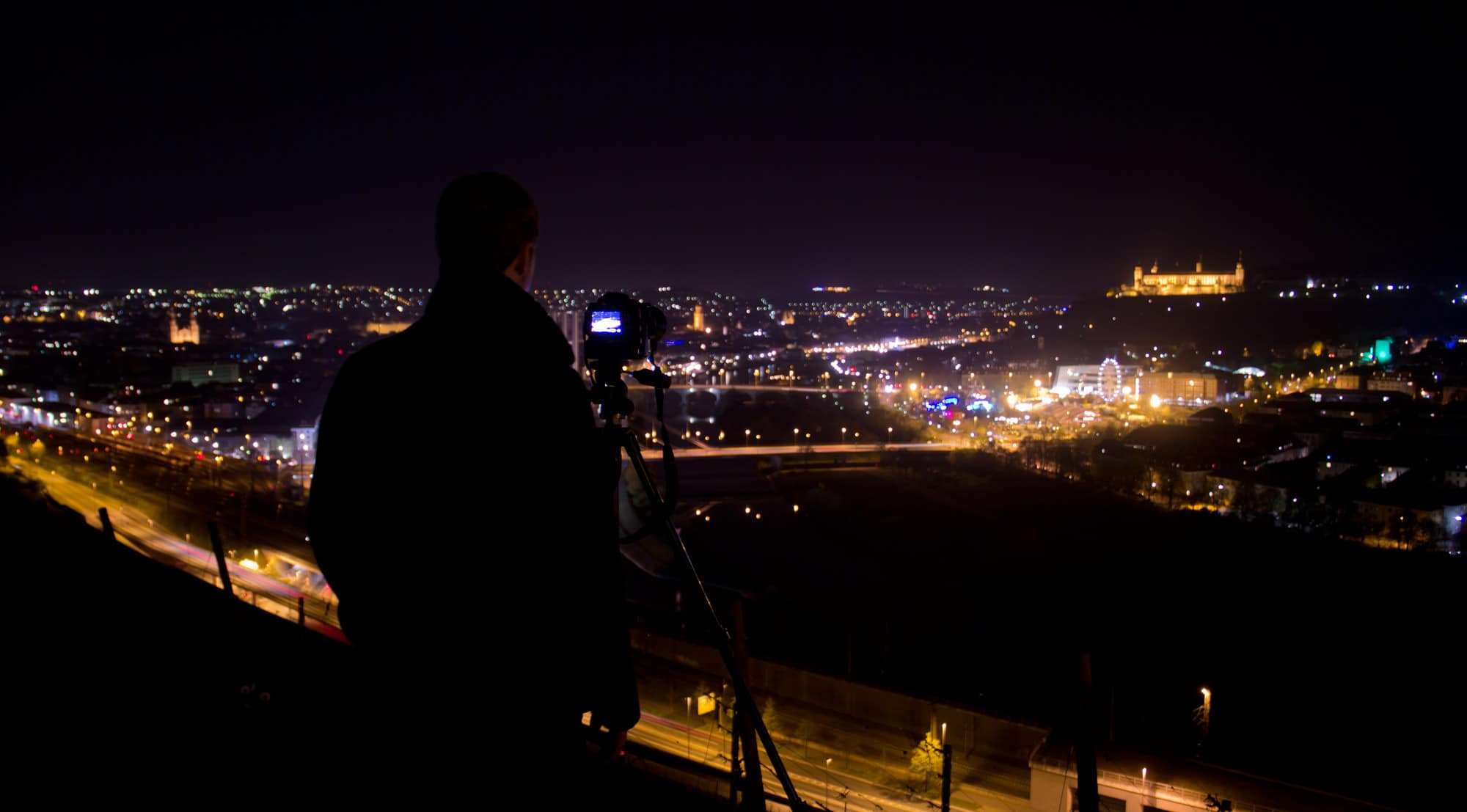 Nachtaufnahmen Würzburg Frühlingsfest