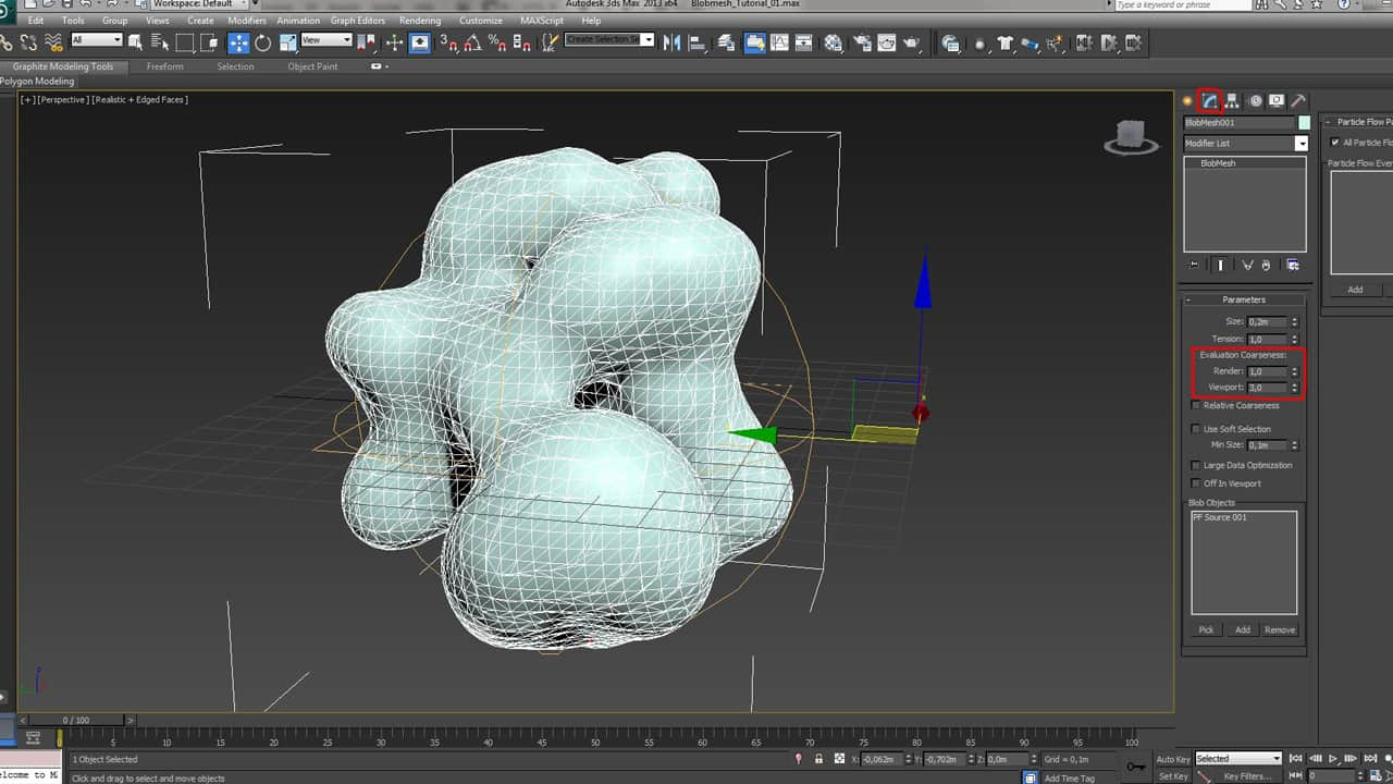 Tutorial about blobmesh object in 3ds max geminus 3d for Tutorial 3d max