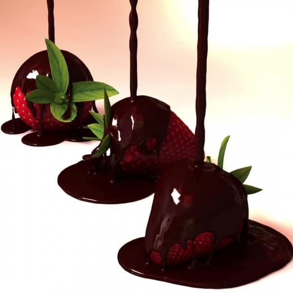 Schokolade-flüssig-Erdbeeren- (1)